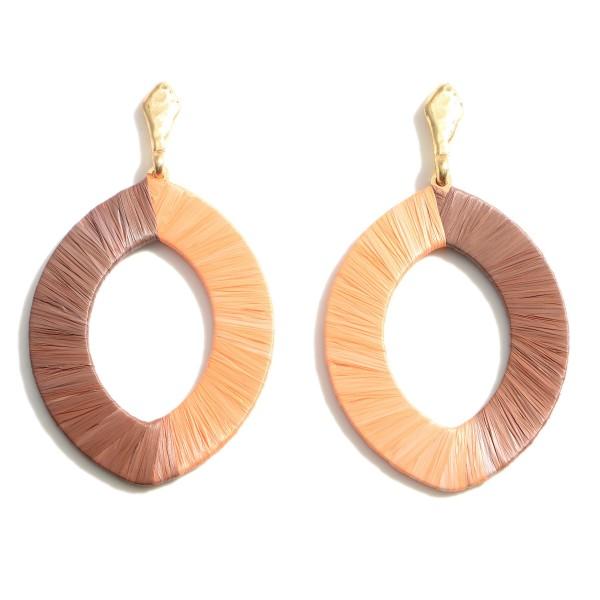"""Raffia Drop Earrings.   - Approximately 2.5"""" Long"""