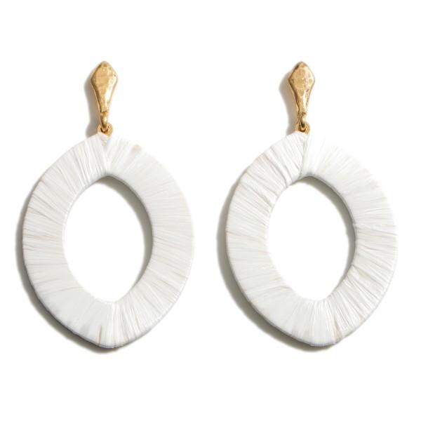 Wholesale raffia Drop Earrings Long