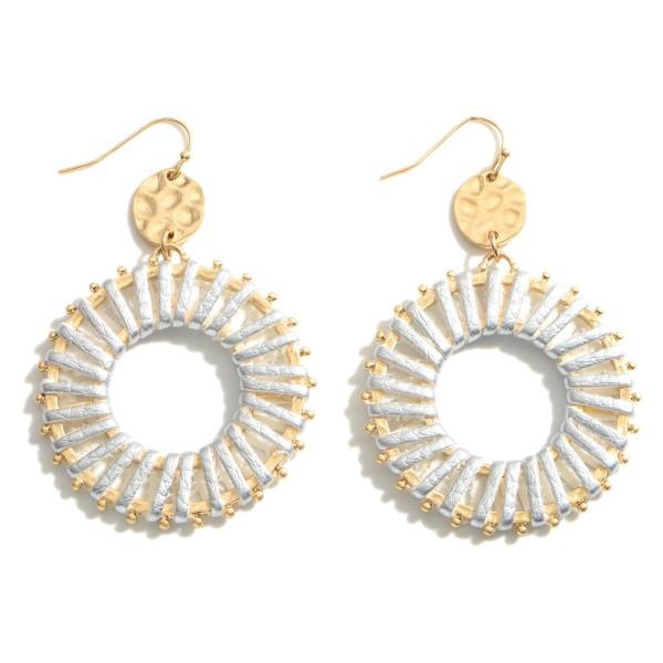 Wholesale metal Drop Earrings Woven Accents Long