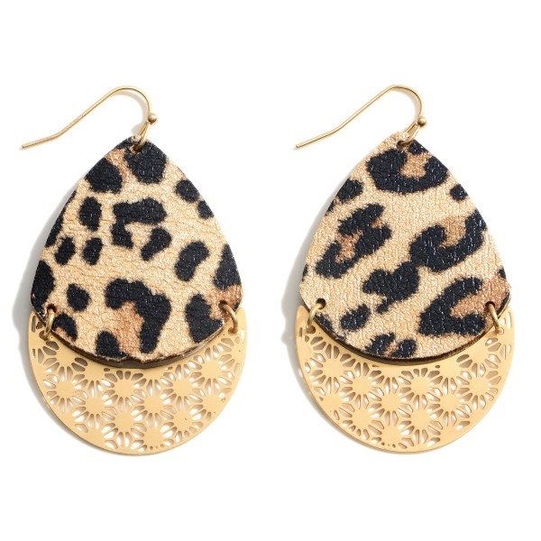 """Teardrop Earrings Featuring Filigree Accents.   - Approximately 2.25"""" Long"""