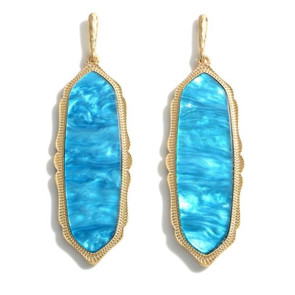 Wholesale metal Drop Resin Earrings Long