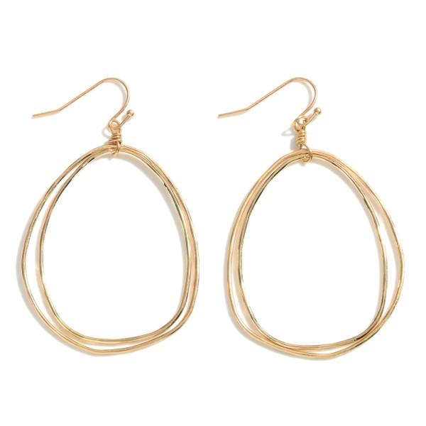 "Metal Drop Earrings.   - Approximately 2"" Long"