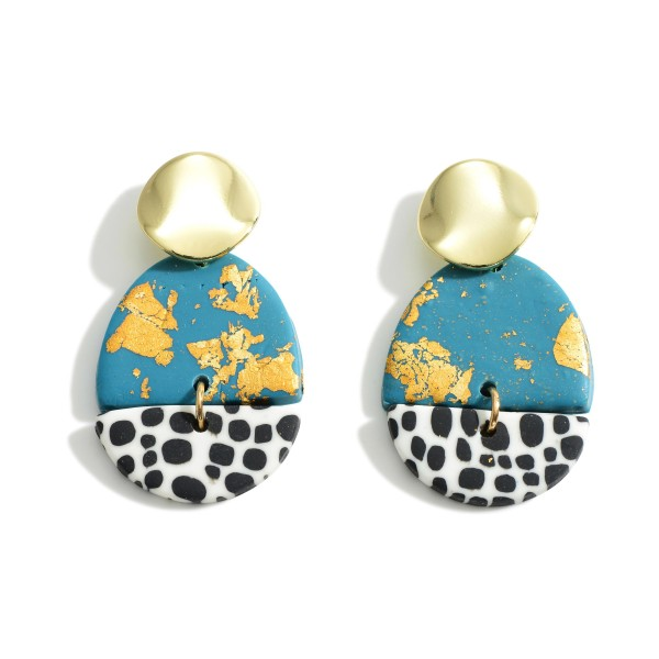 Wholesale polymer Clay Drop Earrings Gold Accents
