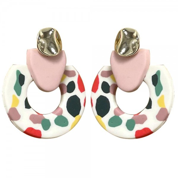 Wholesale multicolor Polymer Clay Drop Earrings