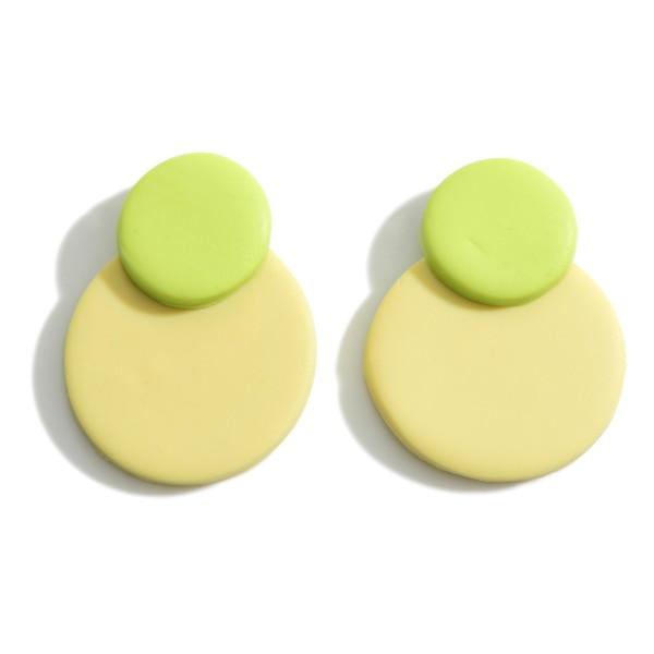 Wholesale multicolor Polymer Clay Circular Drop Earrings