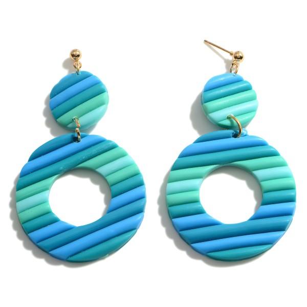 Wholesale clay Polymer Circular Drop Earrings