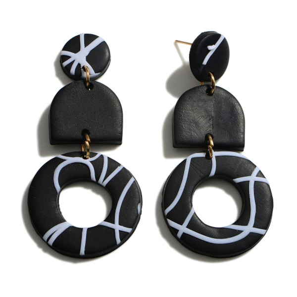Wholesale multicolor Polymer Clay Dangle Earrings
