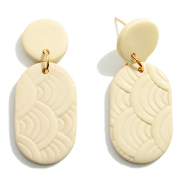 Wholesale natural Polymer Clay Drop Earrings Textured Accents