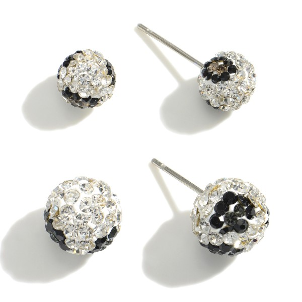 Set of Two Pairs of Animal Print Stud Earrings.   - Smaller Studs Are 4mm in Diameter  - Larger Studs Are 6mm in Diameter