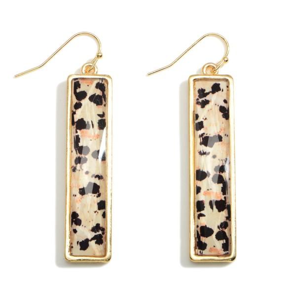 Wholesale rectangular Glass Earrings Long