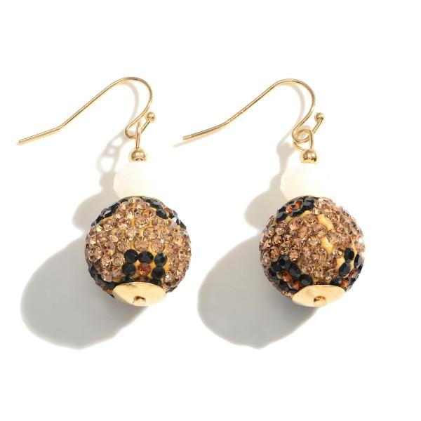 Wholesale leopard Print Earrings Beaded Accents Long