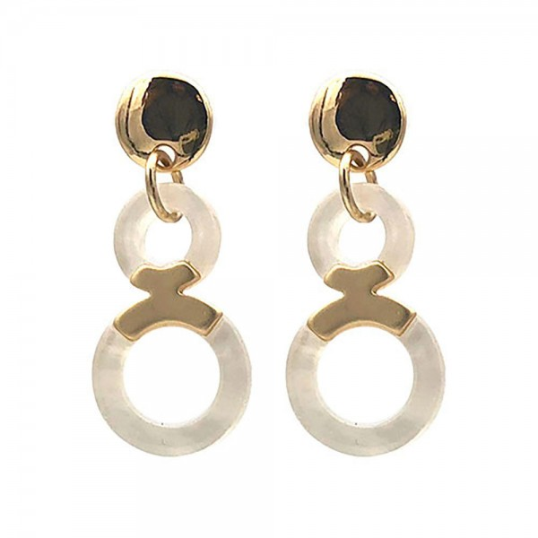 """Resin Drop Earrings Featuring Gold Details.   - Approximately 1.5"""" Long"""