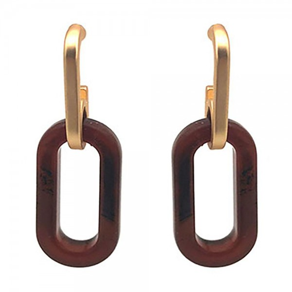 Acetate Earrings Featuring Gold Accents.   - Approximately 1.75: Long