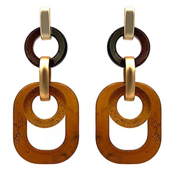 """Resin Drop Earrings.   - Approximately 2"""" Long"""