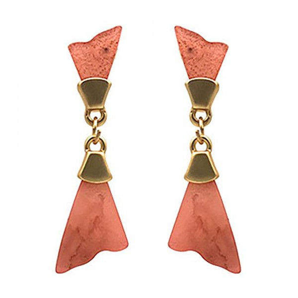 """Resin Drop Earrings Featuring Gold Details.   - Approximately 2"""" Long"""