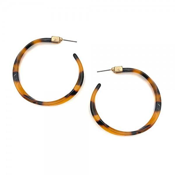"""Acetate Hoop Earrings.   - Approximately 2"""" Long"""