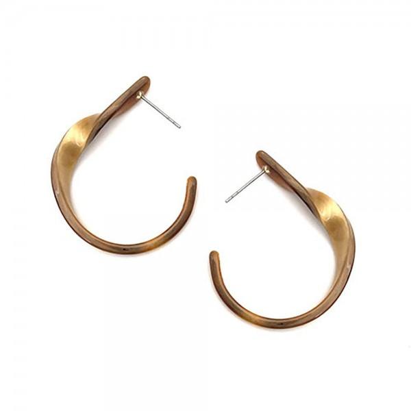 """Teardrop Shaped Resin Hoop Earrings.   - Approximately 2"""" Long"""