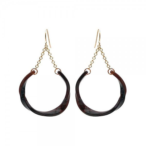 """Resin Drop Earrings Featuring Gold Details.   - Approximately 2.5"""" Long"""