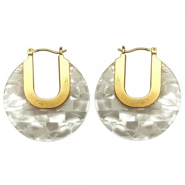 """Resin Hoop Earrings.   - Approximately 1.5"""" Long"""
