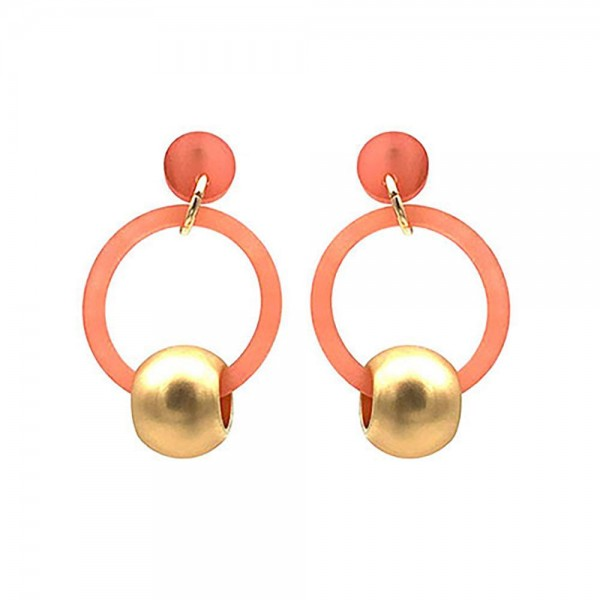 """Resin Drop Earrings Featuring Gold Accents.   - Approximately 1.5"""" Long"""