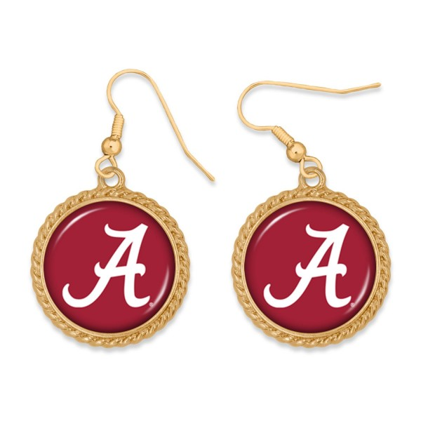 """Alabama Gold Drop Earrings.  - Charm Approximately 1"""" in Diameter - Approximately 2"""" in Length"""