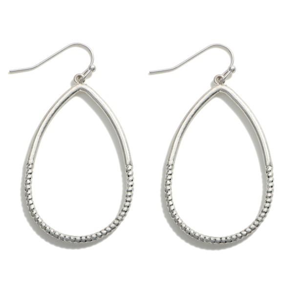 """Metal Teardrop Earrings.  - Approximately 2"""" in Length"""