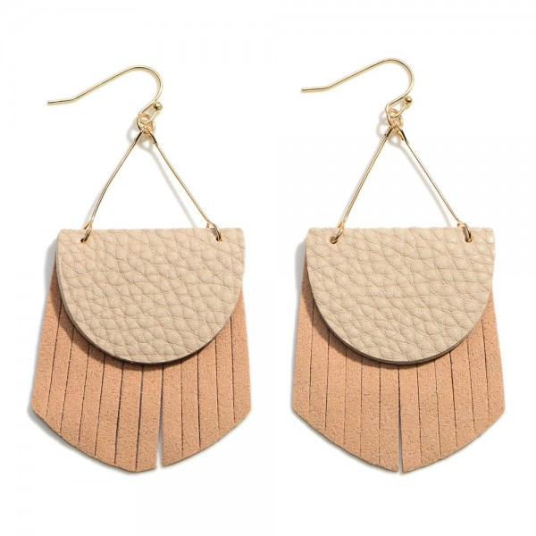 """Statement Leather Drop Earring  - Approximately 2.5"""" Length"""