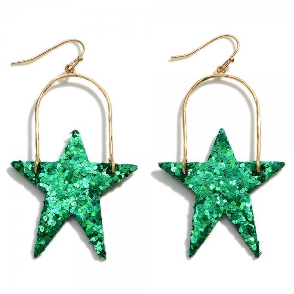 """Glitter Star Earring   - Approximately 2"""" Length"""