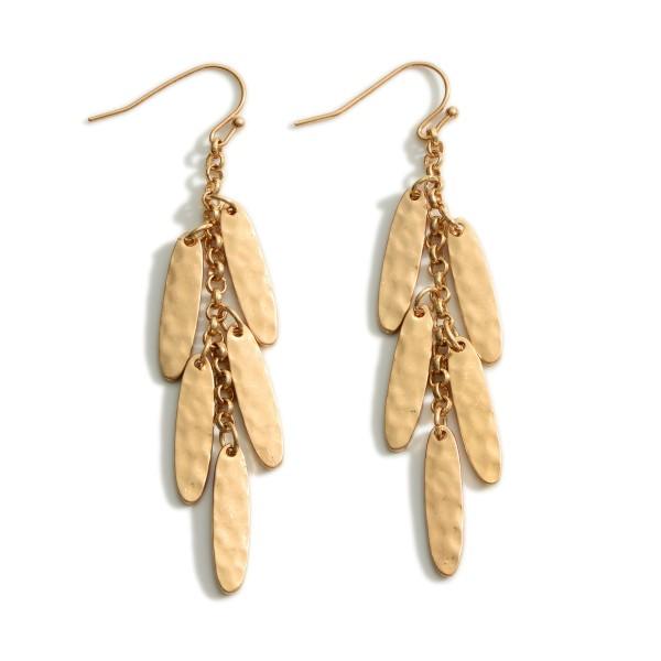 "Metal Dangle Earrings.   -Approximately 3"" Long"