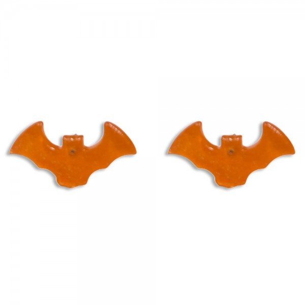 "Glittered Resin Stud Bat Earrings  -Approximately 0.75"" Wide"