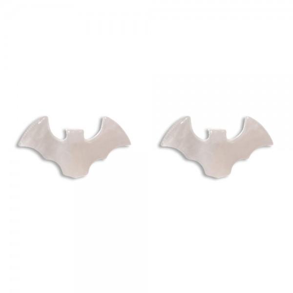 """Resin Stud Bat Earrings  -Approximately 0.75"""" Wide"""