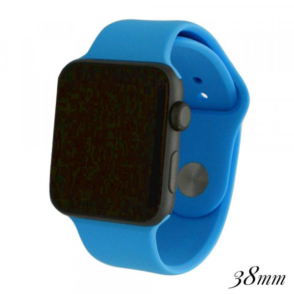 Wholesale solid blue silicone watch band smart watches Fits mm smart watch WATCH