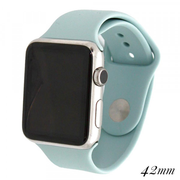 Wholesale solid light blue silicone watch band smart watches Fits mm smart watch
