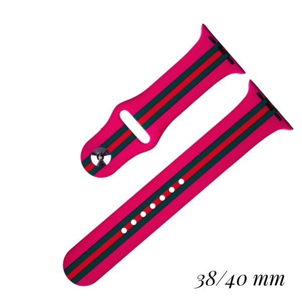 "Interchangeable Silicone Printed Smart Watch Band for Smart Watches Only. Fits 38/40MM Smart Watches.   - Fits 38mm/ 40mm Watch Face - Band Width: 1"" - Approximately 3"" in Diameter - Adjustable Band"