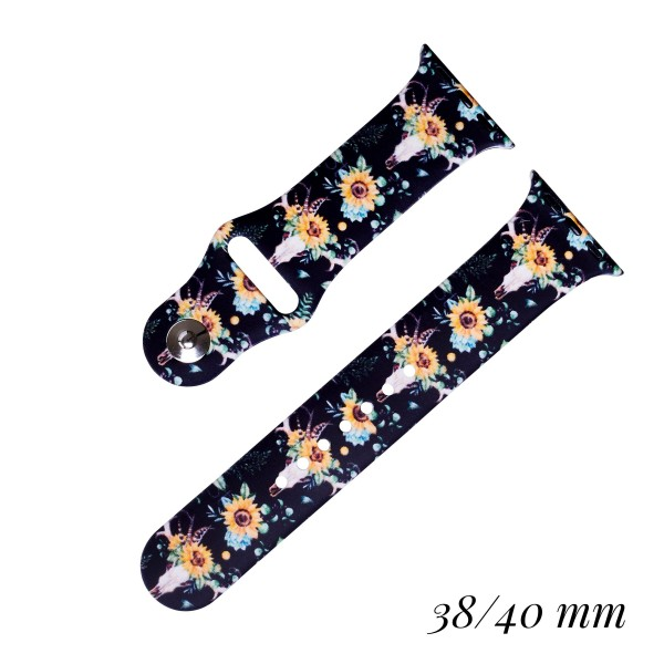 Wholesale interchangeable Silicone Printed Smart Watch Band Smart Watches Only F