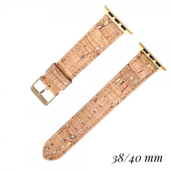 """Interchangeable Cork Smart Watch Band for Smart Watches Only. Fits 38/40MM Smart Watches.  - Fits 38mm/ 40mm Watch Face - Band Width: .75"""" - Approximately 3"""" in Diameter - Adjustable Band"""
