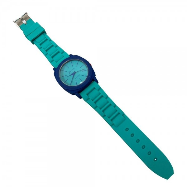 """Watch Featuring Silicone Band and Geneva Platinum Stainless Steel Watch Face.  - Band Approximately 9.5"""" in Length - Watch Face Approximately 1.5"""" in Diameter"""