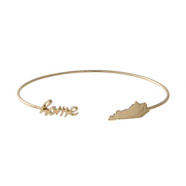 Wholesale gold cuff bracelet home state Kentucky at opening