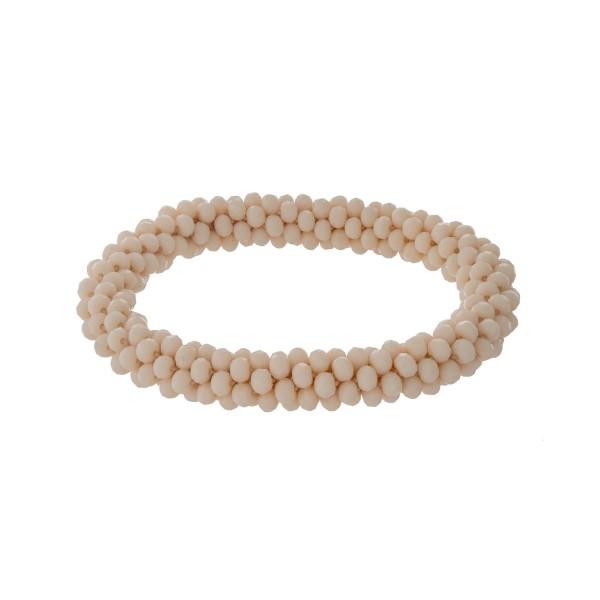 Wholesale ivory beaded stretch bracelet
