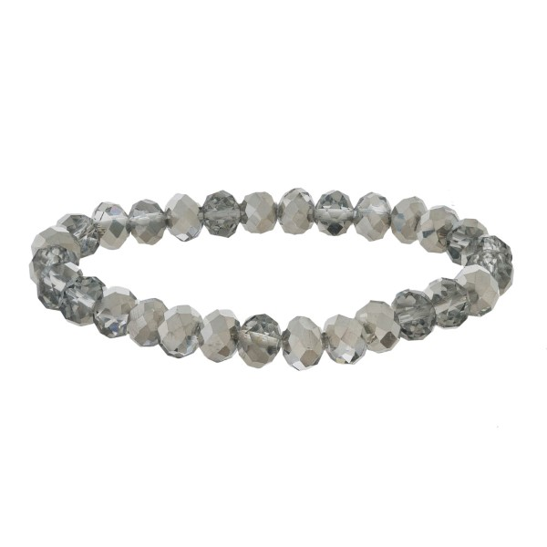 """Faceted bead stretch bracelet. Approximate 6"""" in length."""