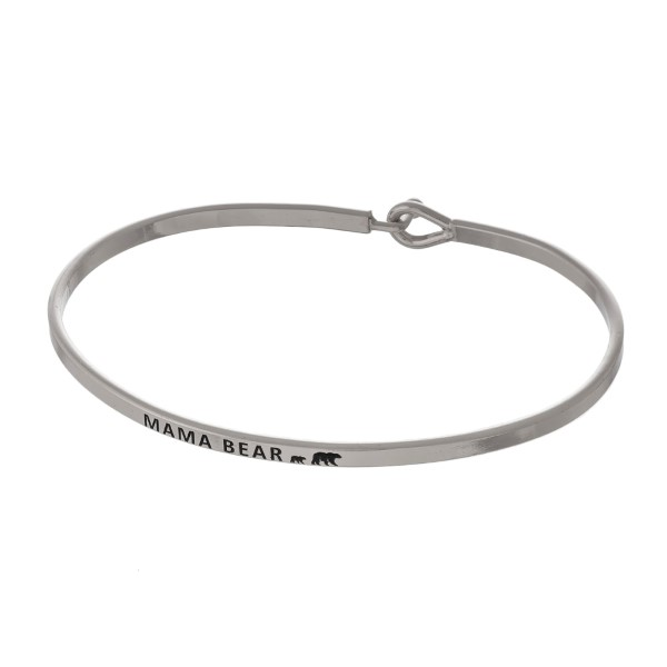 Wholesale metal bracelet engraved message Mama Bear