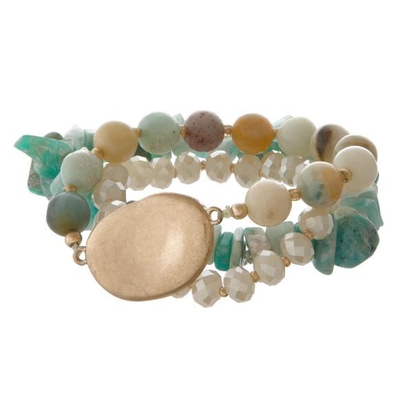 Wholesale stretch bracelet set gold