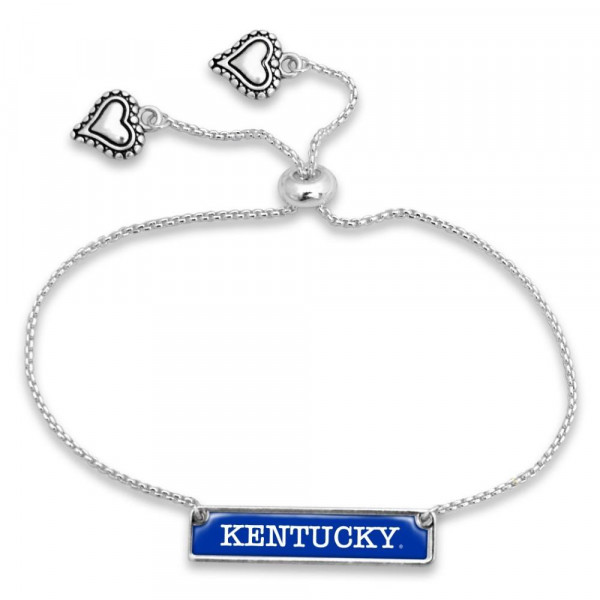 Wholesale officially licensed silver adjustable bracelet university name