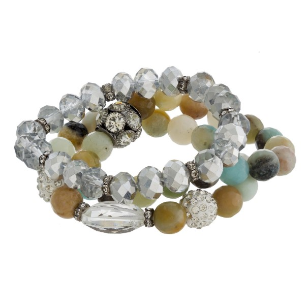 Wholesale beaded stretch bracelet set