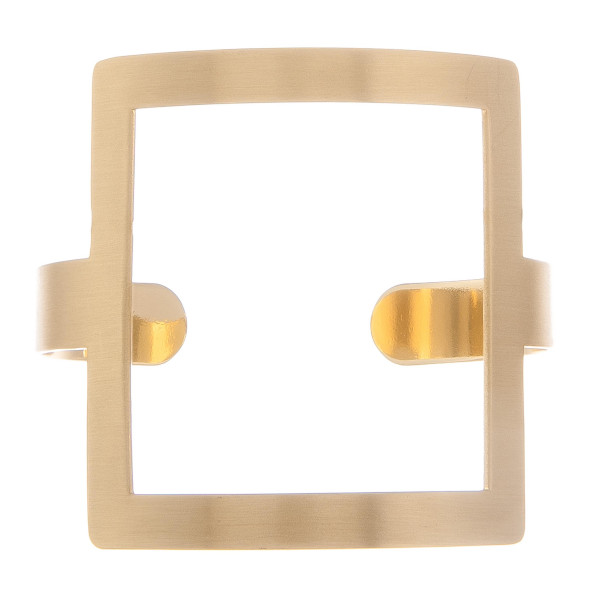 """Metal bracelet with large square wrist detail. Approximate 2"""" in diameter."""