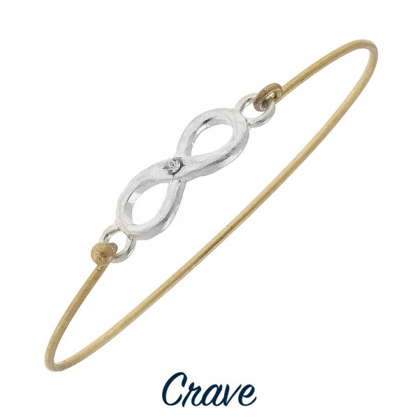 Wholesale gorgeous metal bracelet twisted metal detail Approximate diameter