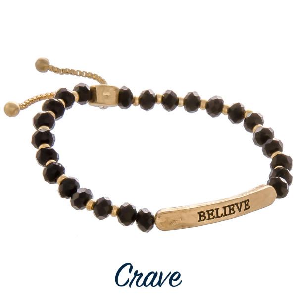 Wholesale enjoy gorgeous bracelet adjustable tie positive Believe message Approx