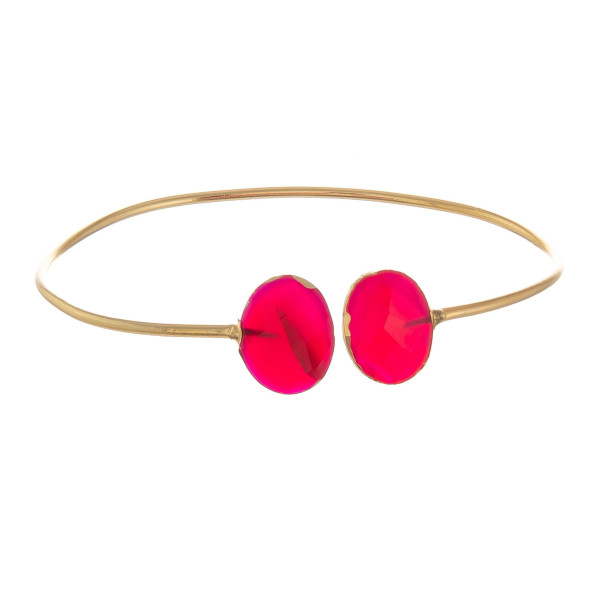 Wholesale metal bracelet natural stone wrist detail Approximate diameter