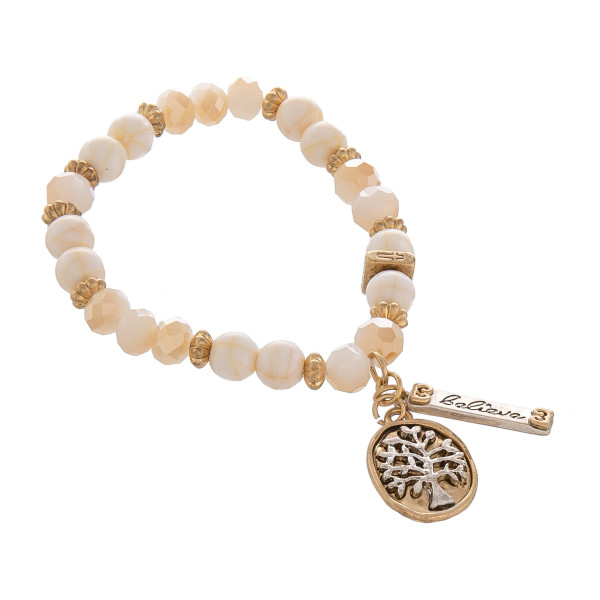 Wholesale natural stone bead stretch bracelet charms Approximate