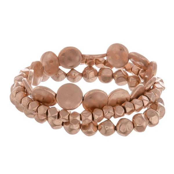 Wholesale metal beaded multi strand bracelet Approximate